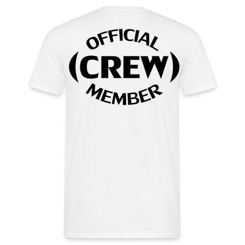 Crew member achterkant - Mannen T-shirt