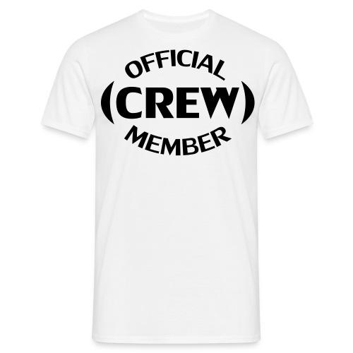 Crew member voorkant - Mannen T-shirt