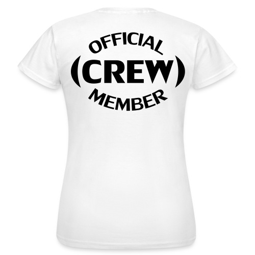 Crew member achterkant - Vrouwen T-shirt