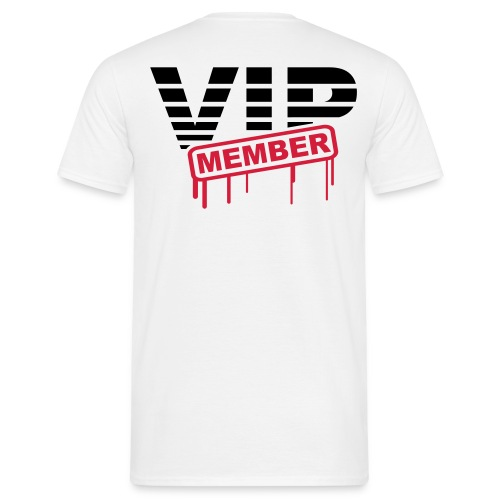 VIP member achterkant - Mannen T-shirt