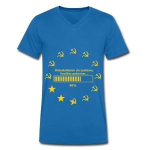 T-SHIRT col V Homme de Canvas réinitialisation faucille basique - T-shirt bio col V Stanley & Stella Homme