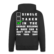 Pullover & Hoodies ~ Männer Premium Kapuzenjacke ~ Building a Racecar schwarz
