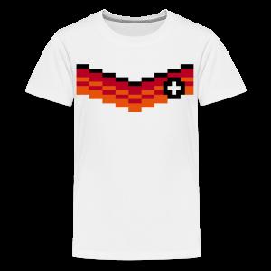 8-Bit-Soccer (back- and frontprint) - Teenage Premium T-Shirt