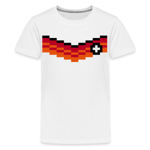 8-Bit-Soccer (back- and frontprint) - Teenage Premium T-Shirt