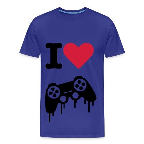 I LOVE GAMER - Camiseta premium hombre