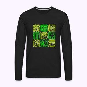 Bolontiku Tiki: Men's Long Sleeve Shirt - Mannen Premium shirt met lange mouwen