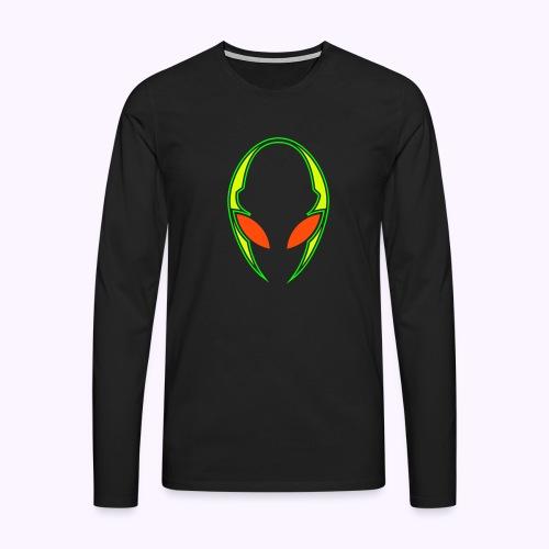 Alien Techno UV-Neon Print - Men's Premium Longsleeve Shirt