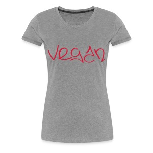 Vegan Graffiti 3 - Frauen Premium T-Shirt