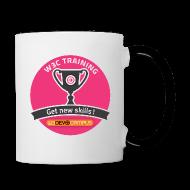Mugs & Drinkware ~ Contrasting Mug ~ w3devcampus_purple_badge_mug