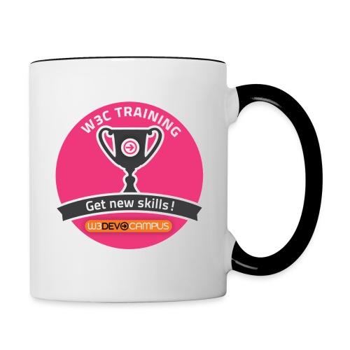 w3devcampus_purple_badge_mug - Contrasting Mug