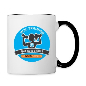 w3devcampus_blue_badge_mug - Contrasting Mug