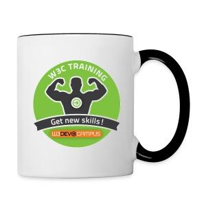 w3devcampus_green_badge_mug - Contrasting Mug