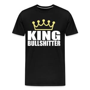 King Bullshitter T-Shirt | Poop Gifts - Men's Premium T-Shirt
