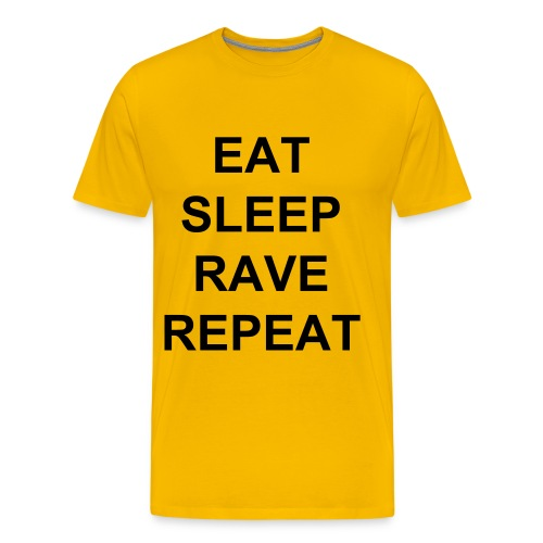 EatSleepRaveRepeat - Premium T-skjorte for menn