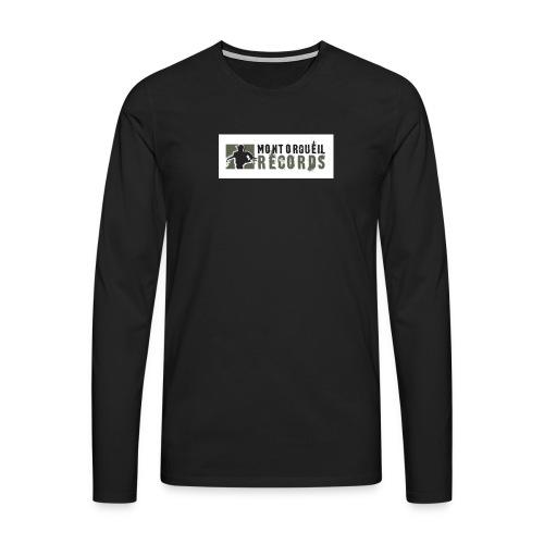 T-shirt manches longues Premium Homme - T-shirt noir manches longues montorgueil records