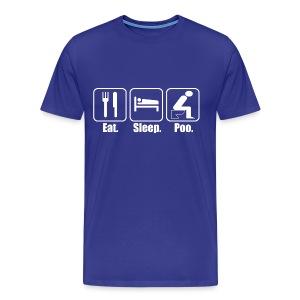 Eat Sleep Poo T-Shirt | Poop Gifts - Men's Premium T-Shirt
