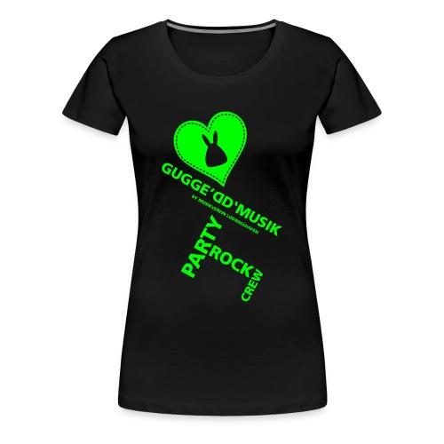 Gugged neongrün - Frauen Premium T-Shirt