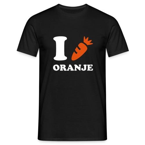 Ik hou van Oranje (met oranje wortel ipv hartje) - Mannen T-shirt