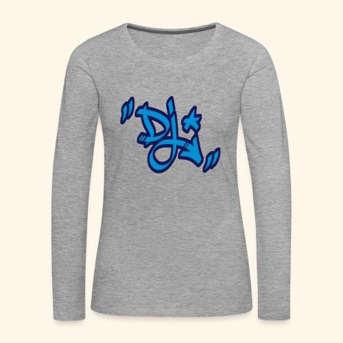 dj style graffiti - T-shirt manches longues Premium Femme