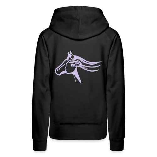 MPS Hoody (Front: Sunset Rider/ Back: Unify) Lavendel on Black - Frauen Premium Hoodie
