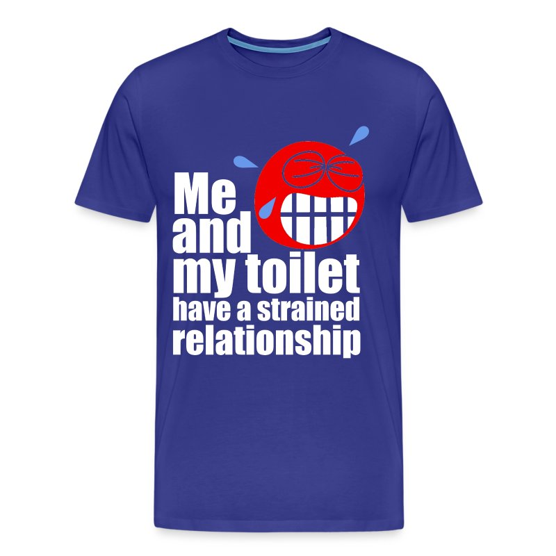 Strained Relationship T-Shirt   Poop Gifts - Men's Premium T-Shirt