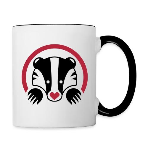 Badger Love - Contrasting Mug