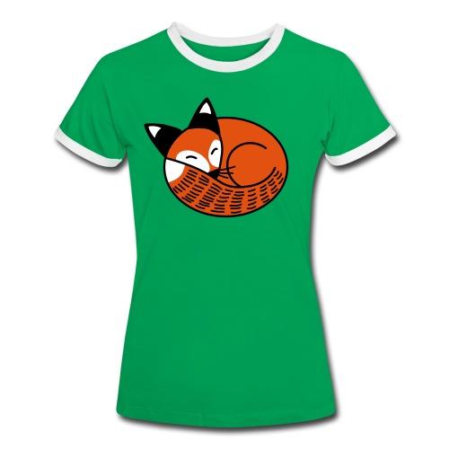 Sleepy Fox - Women's Ringer T-Shirt