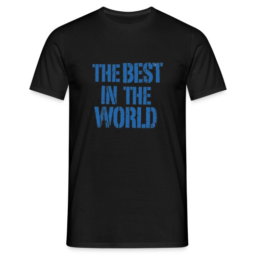 Men's T-Shirt - Show your the Best in the World.  This straight-cut t-shirt for men is made of pre-shrunk and ring-spun cotton. Its high quality and fashioning shows in terms of double-thread seams on its cuffs and hem as well as its double-bevelled collar edges (1X1 ribbing). A collar neckband makes for a comfortable fit. Fabric weight 190g/sqm. 100% cotton.