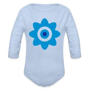 Une Petit Fleur or eine kleine Blume! - Organic Longsleeve Baby Bodysuit