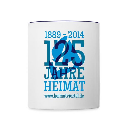 125 Jahre  - Tasse zweifarbig