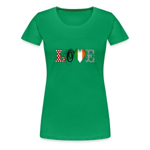 Love Ireland Black - Frauen Premium T-Shirt