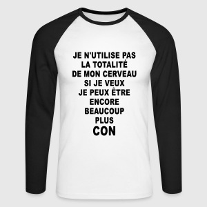 Si je veux, je peux Tee shirts manches longues - T-shirt baseball manches longues Homme