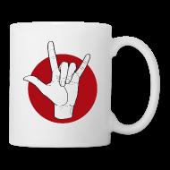 Tassen & Zubehör ~ Tasse ~ Fingeralphabet ILY white / red