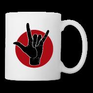 Tassen & Zubehör ~ Tasse ~ Fingeralphabet ILY black / red