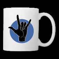Tassen & Zubehör ~ Tasse ~ Fingeralphabet ILY black / blue