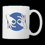 Tassen & Zubehör ~ Tasse ~ Deaf Interpreter white / blue