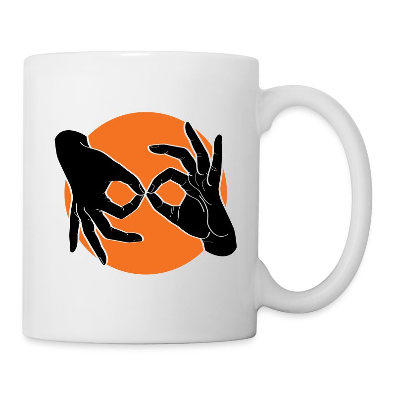 Deaf Interpreter black / orange - Tasse