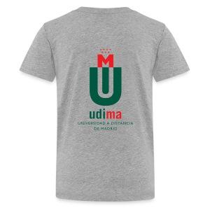 Camiseta Premium adolescente gris- UDIMA - Camiseta premium adolescente