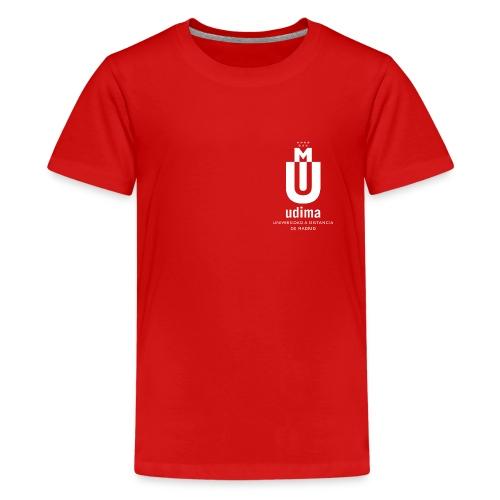 Camiseta Premium adolescente roja- UDIMA - Camiseta premium adolescente