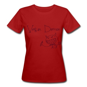 Vegan Demon - Frauen Bio-T-Shirt