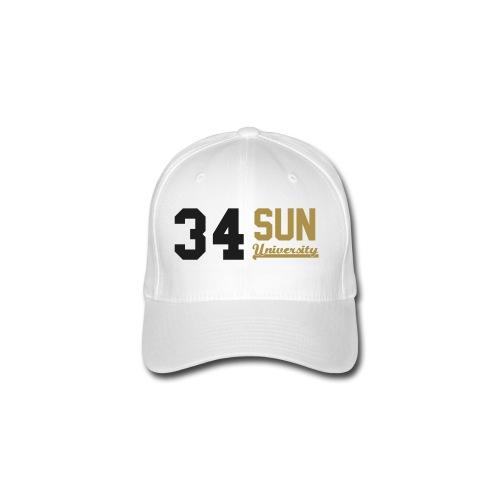 Casquette 34 Sun University White Black Gold à paillette - Casquette Flexfit