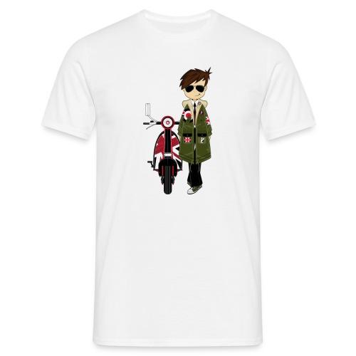 Mod boy & Retro Scooter Tee - Men's T-Shirt