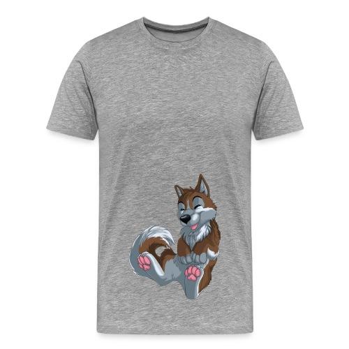 braunes Husky T-shirt - Männer Premium T-Shirt