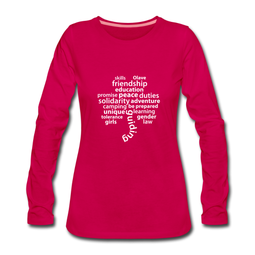 guiding is... - longsleeve front - Women's Premium Longsleeve Shirt