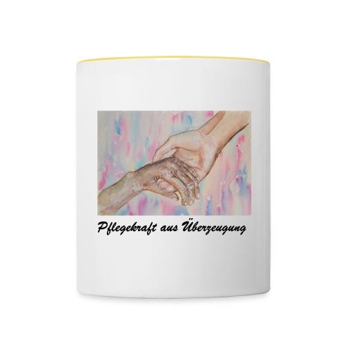 Tasse helfende Hand - Tasse zweifarbig