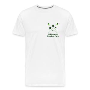 Men's Single Logo - White - Men's Premium T-Shirt