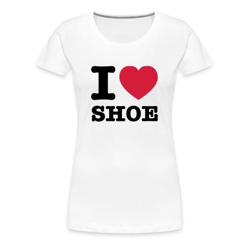 Lesben T-Shirt Shop: I ♥ SHOE Lesben Shirt - Frauen Premium T-Shirt