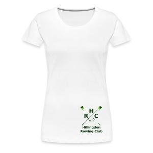 Women's Single Logo - White - Women's Premium T-Shirt