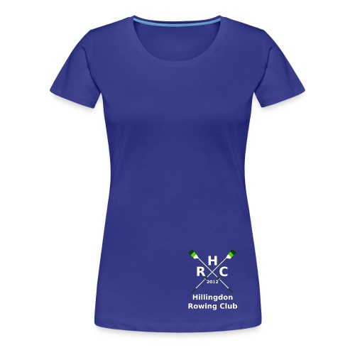 Women's Single Logo - Blue - Women's Premium T-Shirt