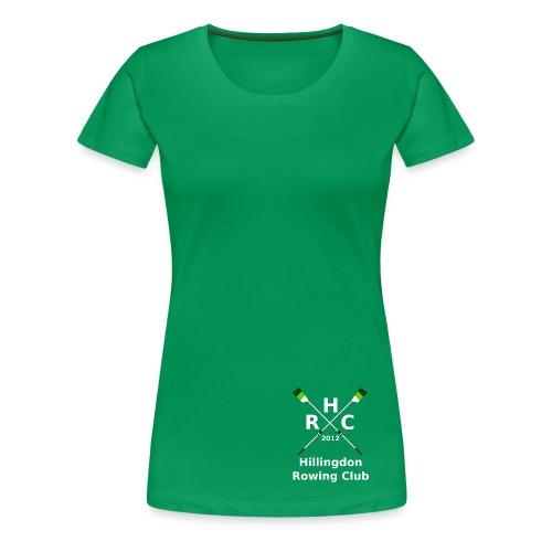Women's Single Logo - Green - Women's Premium T-Shirt